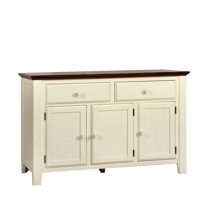 Furniture of America Gossling Buffet in Cherry and White