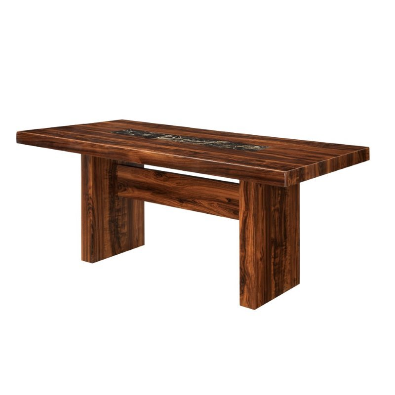 Furniture of America Rosa Dining Table in Natural Wood