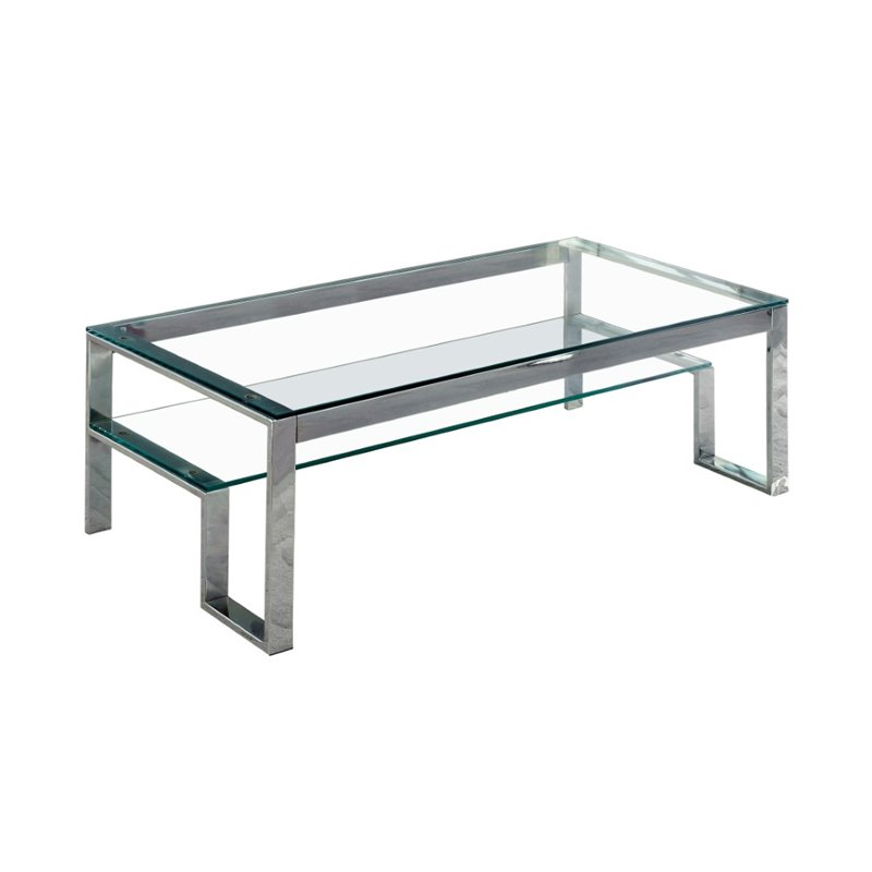 Furniture of America Ayetti Metal Coffee Table in Chrome