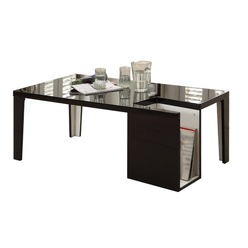 Furniture of America Lucio Coffee Table in Black