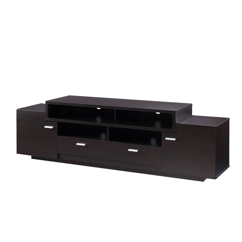 Furniture of America Braswell 72 TV Stand in Cappuccino