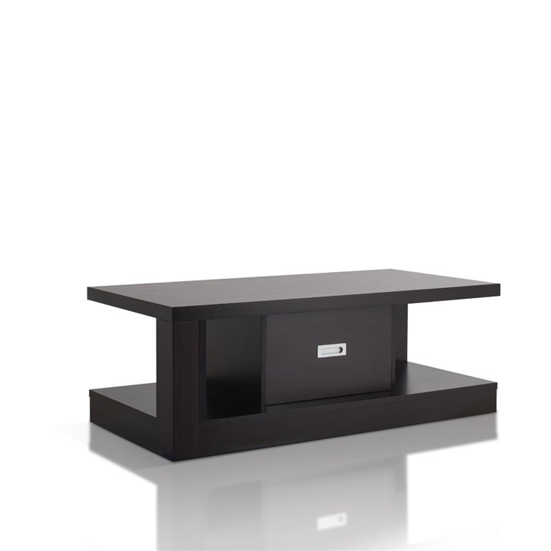 Furniture of America Daven Storage Coffee Table in Cappuccino