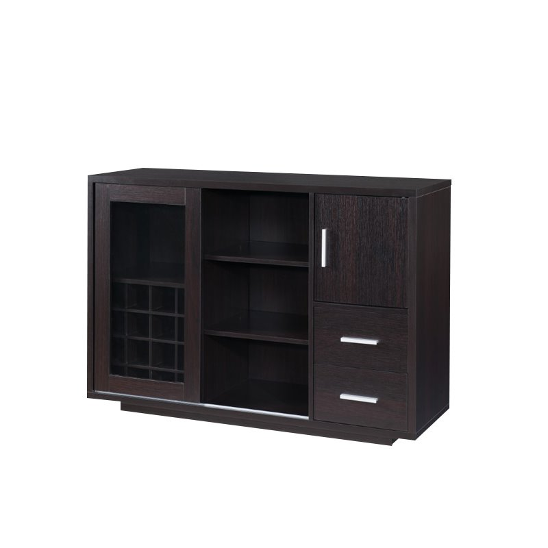 Furniture of America Payton Wine Rack Buffet in Cappuccino