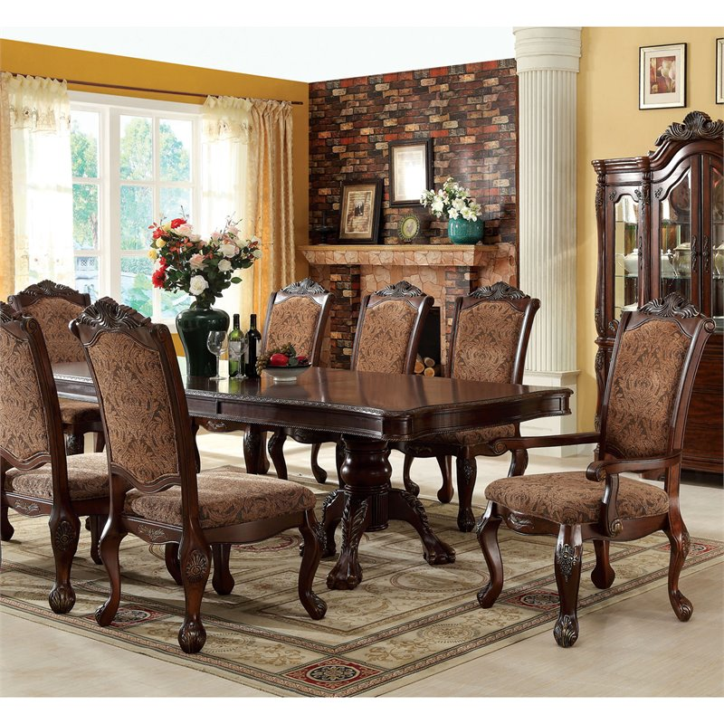 Furniture of America Fellin 7 Piece Expandable Dining Set