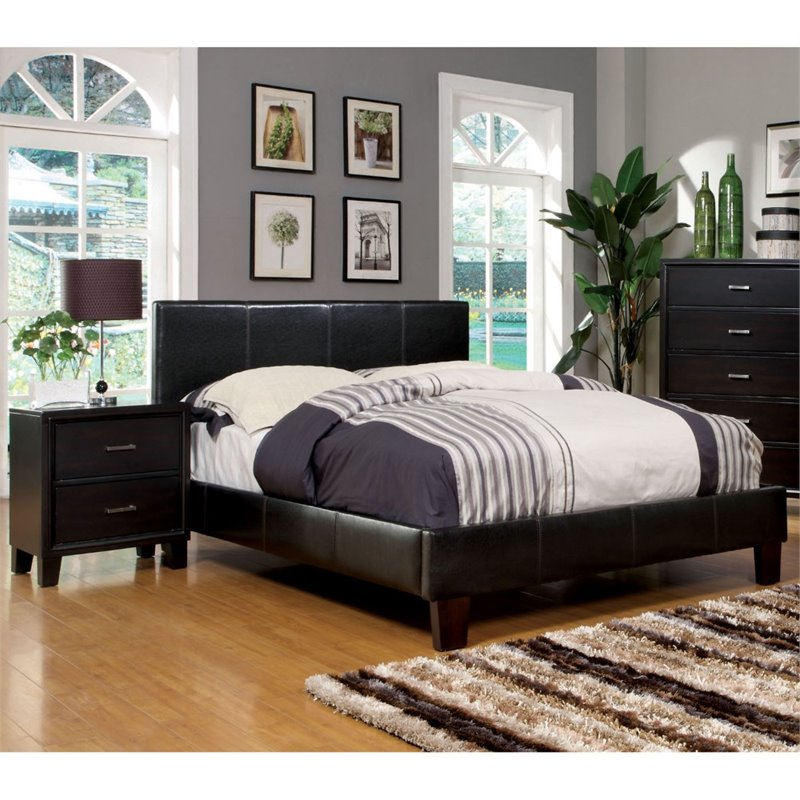 Furniture of America Ramone 2 Piece Twin Bedroom Set in Espresso