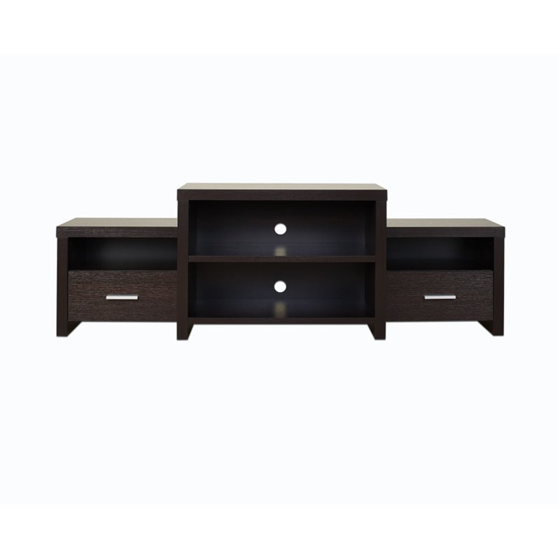 Furniture of America Yeldell 68.5 TV Stand in Cappuccino