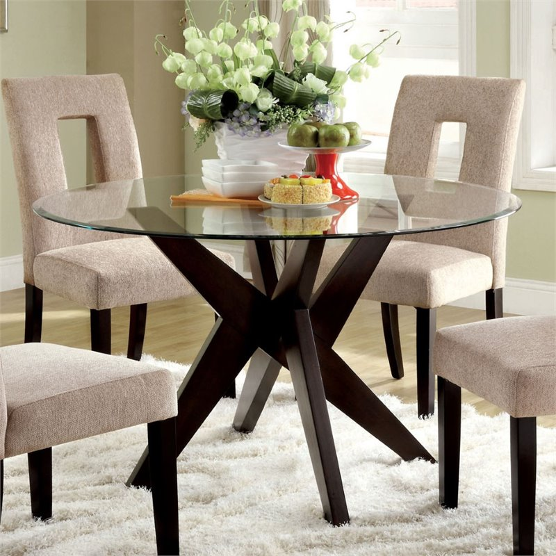 Furniture of America Ralphio Dining Table in Espresso