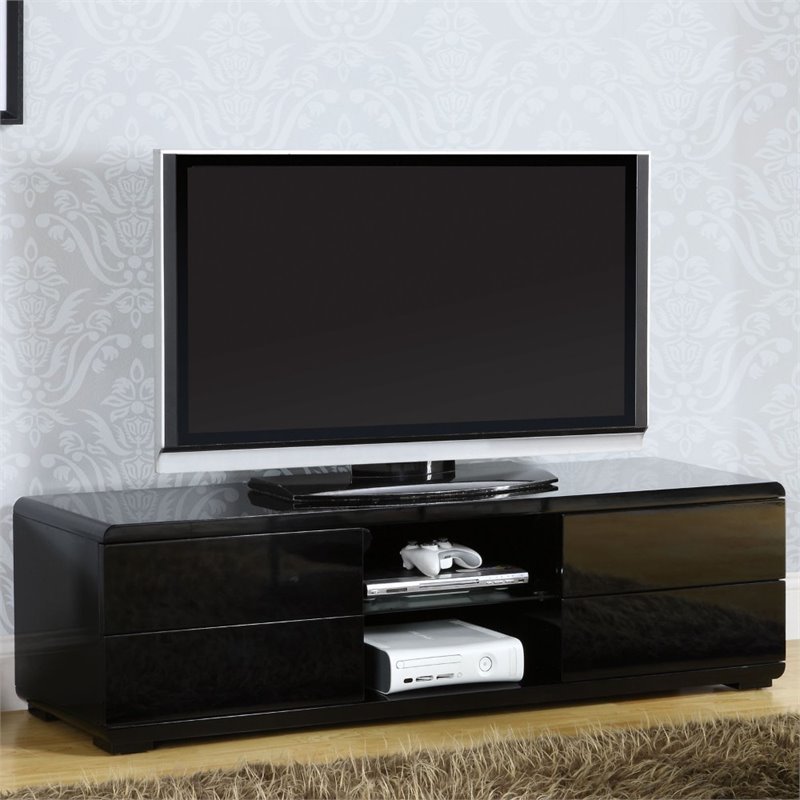 Furniture of America Nye 59 TV Stand in Black