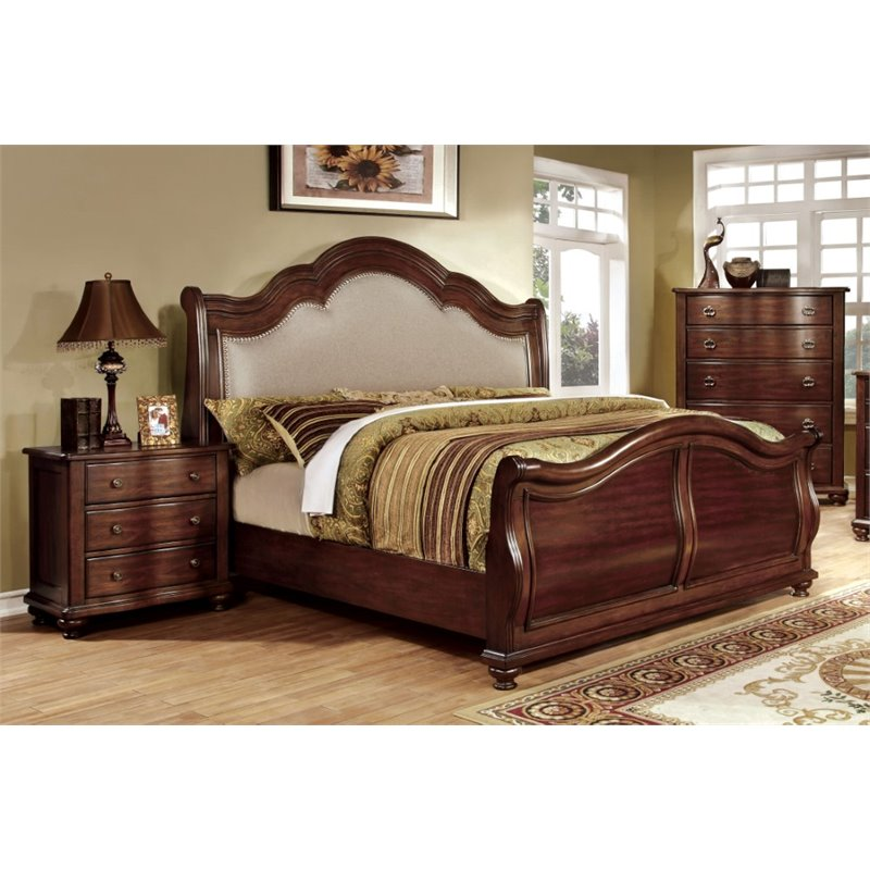 Furniture of America Marcella 3 Piece Panel California King  Bedroom Set