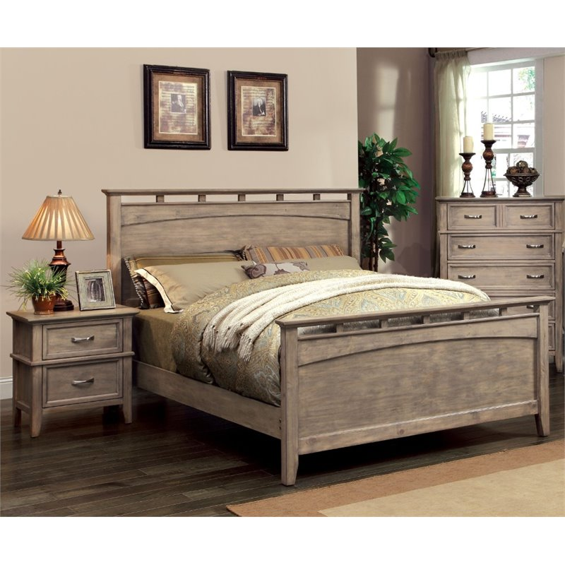 Furniture of America Ackerson 2 Piece Panel California King  Bedroom Set