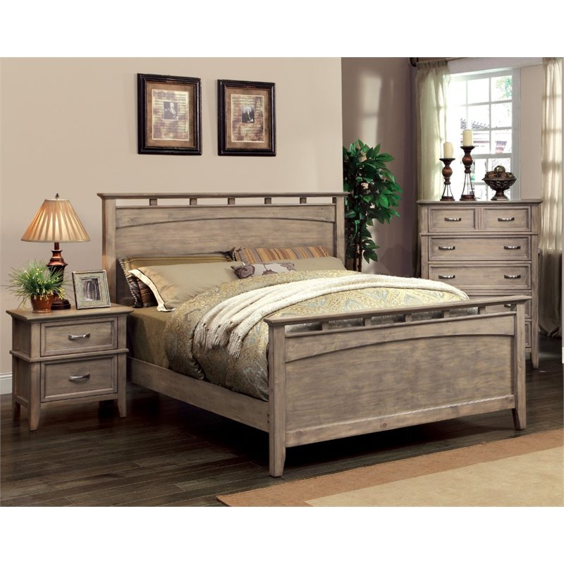 Furniture of America Ackerson 3 Piece Panel California King  Bedroom Set