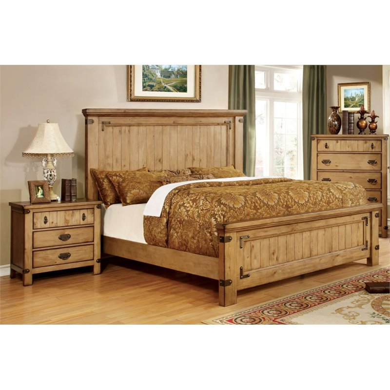 Furniture of America Sesco 2 Piece Panel California King  Bedroom Set