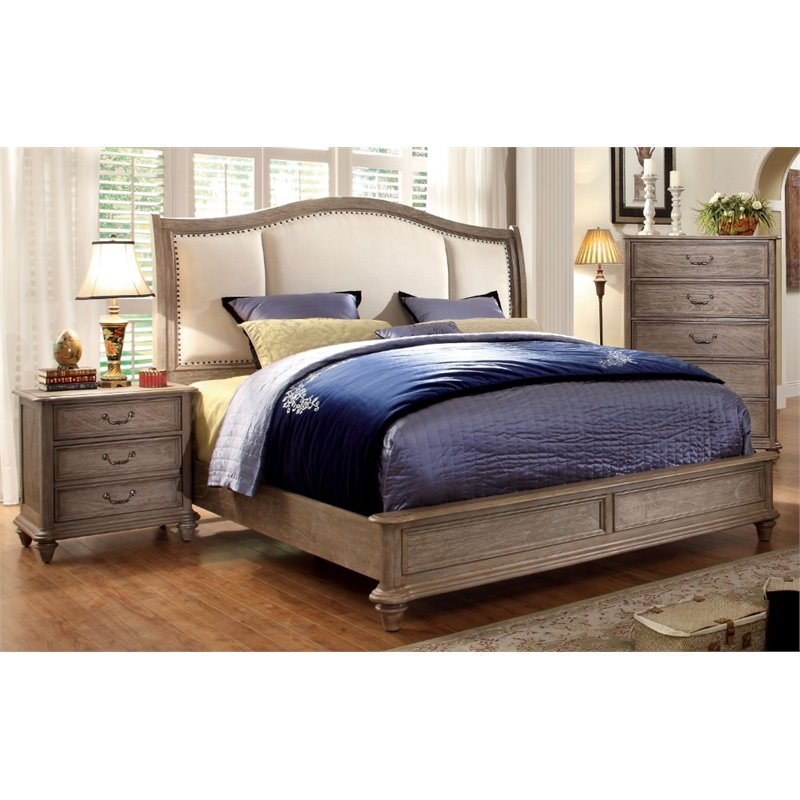 Furniture of America Bartrand 3 Piece Panel California King  Bedroom Set