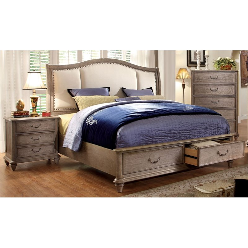 Furniture of America Bartrand 2 Piece Panel California King  Bedroom Set