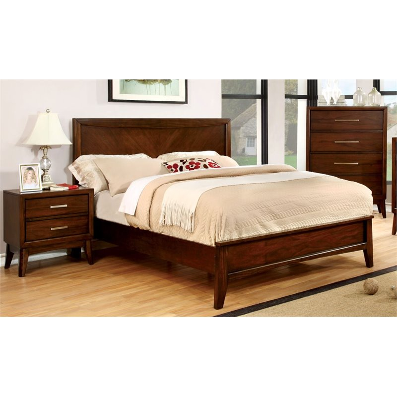 Furniture of America Bryant 3 Piece Panel California King  Bedroom Set