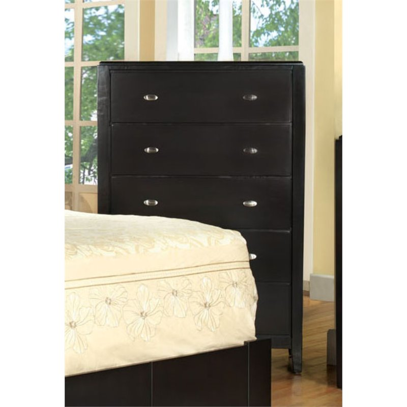 Furniture of America Lixer Multi Drawer Chest in Brown