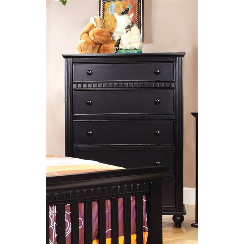 Furniture of America Dresden 5 Drawer Chest in Black