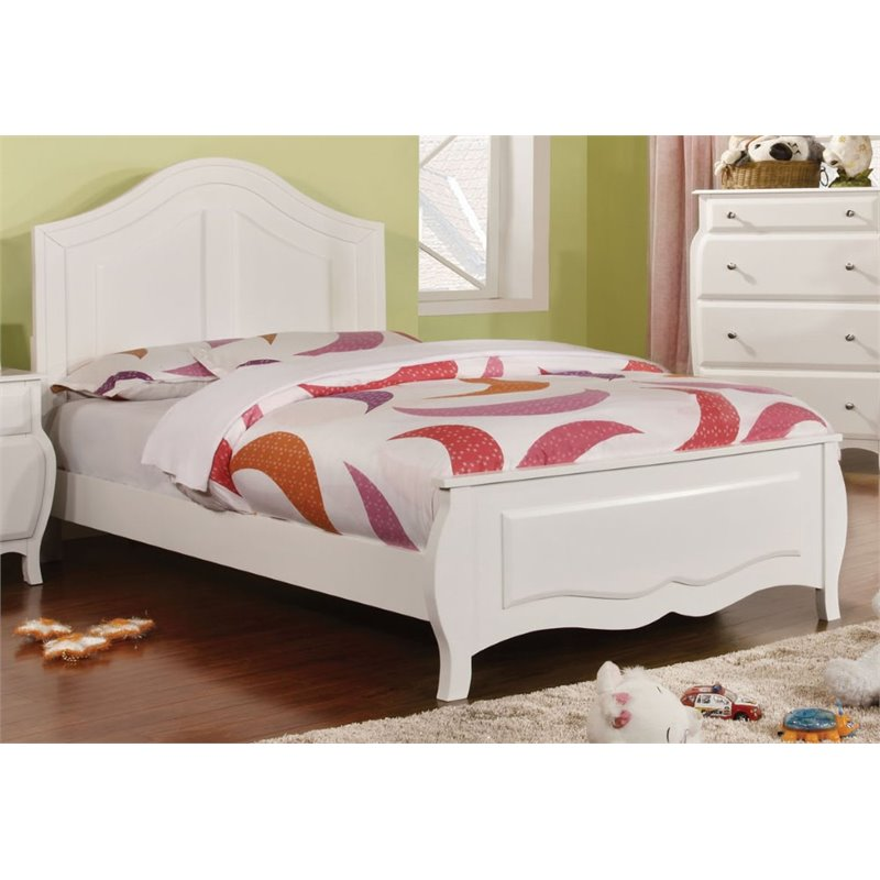 Furniture of America Palon Twin Panel Bed in White