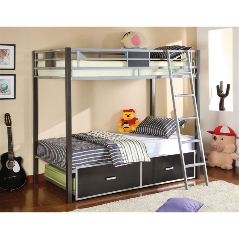 Furniture of America Annesten Twin over Twin Bunk Bed