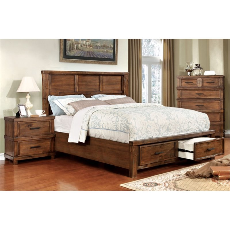 Furniture of America Gillian 2 Piece California King Panel Bedroom Set