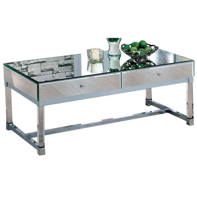 Furniture of America Ashton Contemporary Coffee Table in Chrome