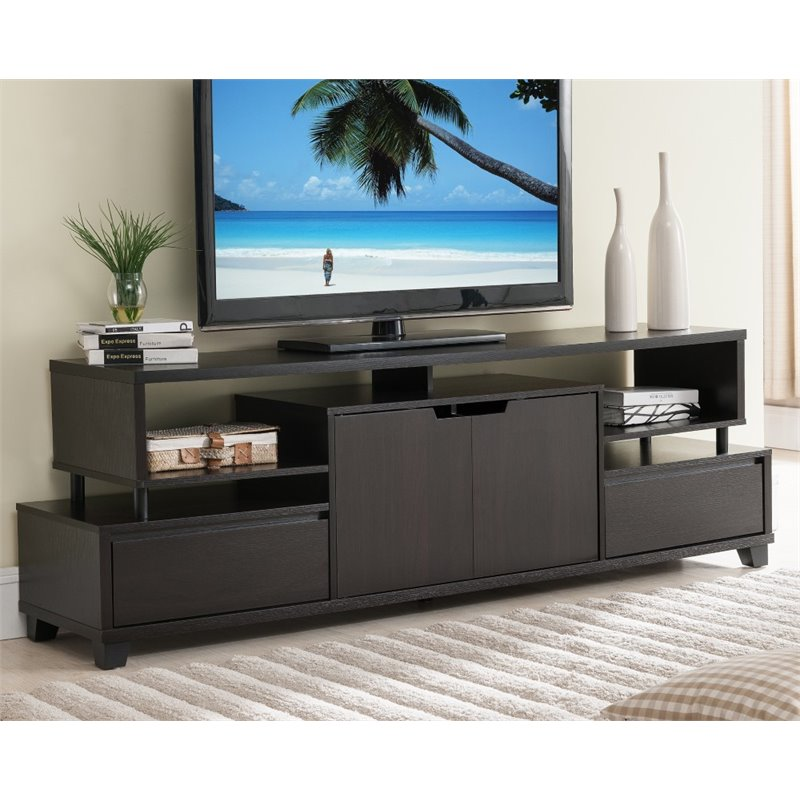Furniture of America Eliana Contemporary TV Console in Cappuccino 1610373