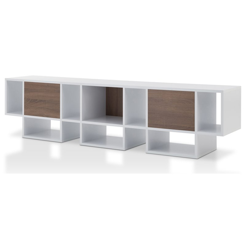 Furniture of America Pima 82 TV Stand in White
