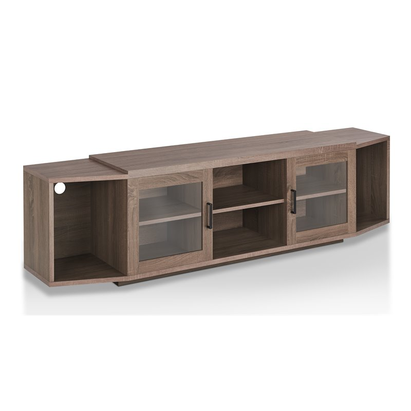 Furniture of America Lucas 70 TV Stand in Chestnut Brown