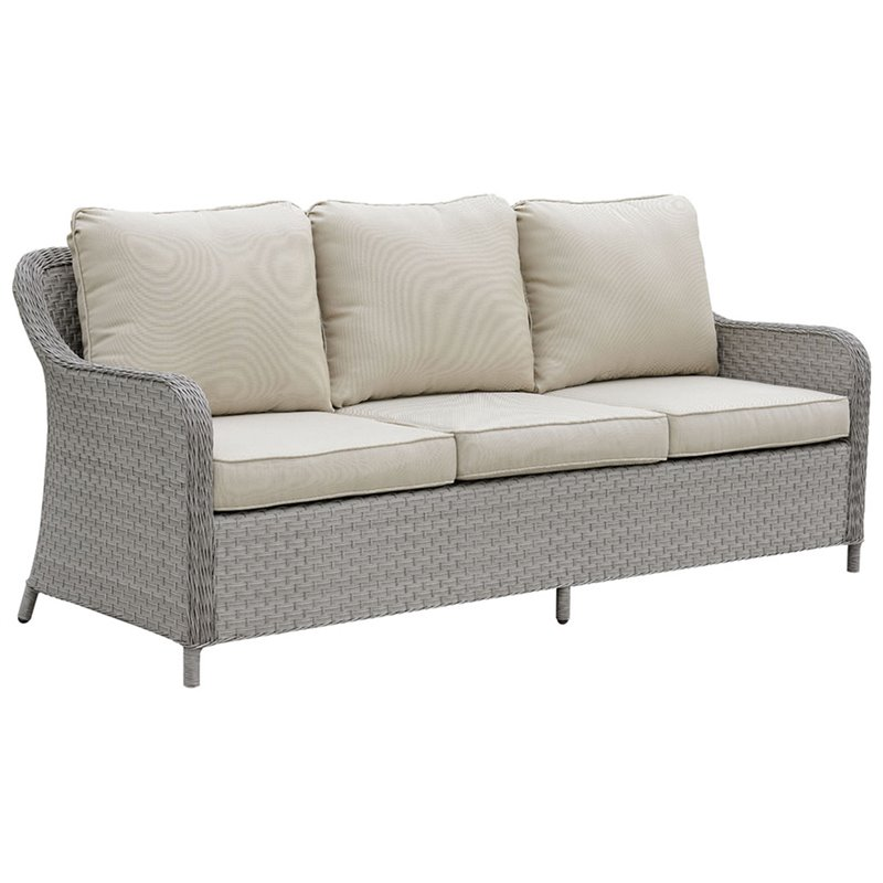 Furniture of America Efren Patio Sofa in Gray