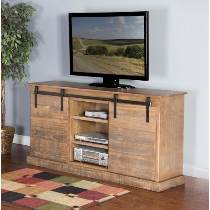 Sunny Designs Puebla 62 TV Stand in Driftwood