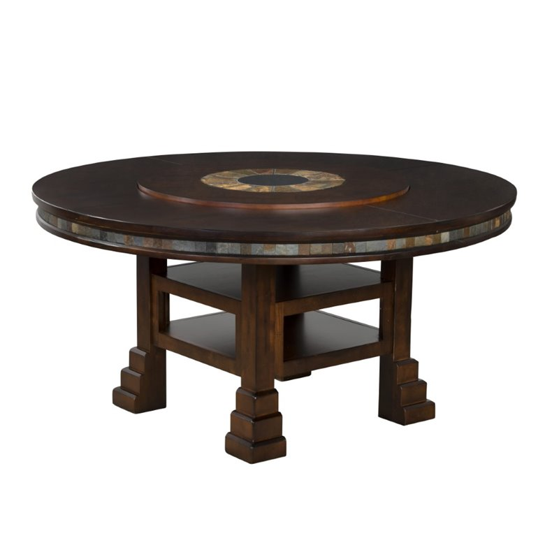 Sunny Designs Santa Fe 60 Round Dining Table with Lazy Susan