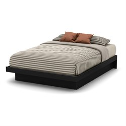 South Shore Basic Queen Platform Bed in Pure Black