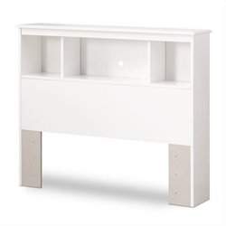 South Shore Crystal Collection Twin Bookcase Headboard in White Finish