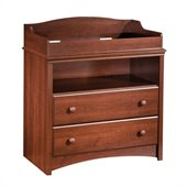 South Shore Sweet Morning Wood Changing Table in Royal Cherry Finish