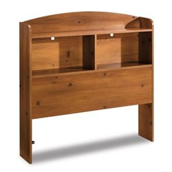 South Shore Logik Sunny Pine Twin Size Bookcase Headboard