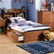 ADD TO YOUR SET: South Shore Logik Sunny Pine Twin Mates Storage Bed Frame Only