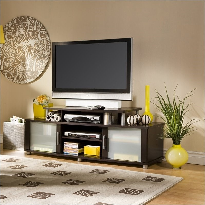 City Life LCD TV Stand in Chocolate Finish