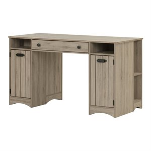 South Shore Artwork Writing Desk in Rustic Oak