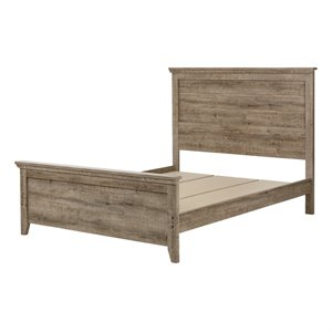 South Shore Lionel Queen Panel Bed in Weathered Oak