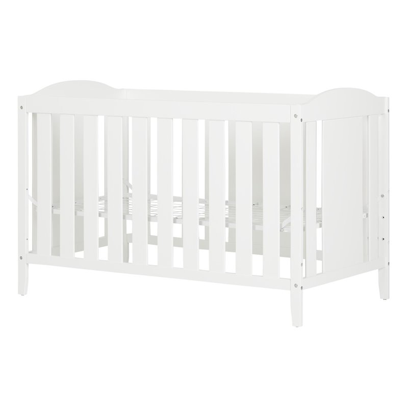 South Shore Reevo Crib and Toddlers Bed in Pure White