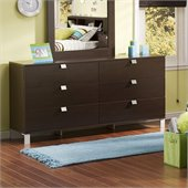South Shore Cakao Double Dresser in Chocolate