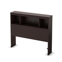 South Shore Cakao Bookcase Twin Headboard in Chocolate Finish