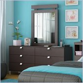South Shore Cakao Triple Dresser and Mirror Set