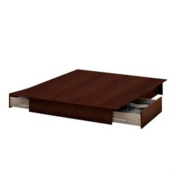 South Shore Step One Full Queen Platform Bed in Sumptuous Cherry