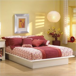 South Shore Newbury White Wood Platform Bed 5 Piece Bedroom Set