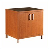 South Shore Metropole 2 Shelf Wood Credenza in Cherry and Black Finish