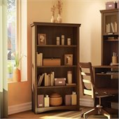 South Shore Glasgow 4 Shelf Bookcase in Sumptuous Cherry Finish