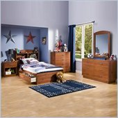 South Shore Logik Kids Sunny Pine Twin Mates 6 Piece Bedroom Set