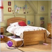 South Shore Prairie Kids Antique Pine Twin Wood Panel Bed 3 Piece Bedroom Set