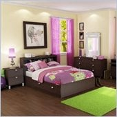 South Shore Cakao Kids Full Bed 6 Piece Bedroom Set